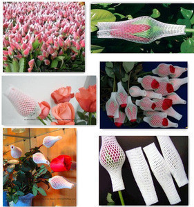 Plastic foam fruit protective package net rose flower sleeve net