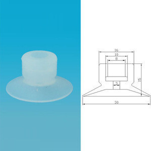 Small mount glazing rubber suction cup