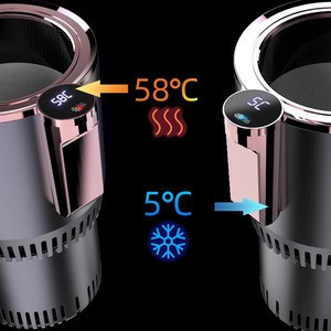 Smart 2 IN 1 Mini Car fridge Warmer and cooler Cup Travel Coffee Mug For Car Smart Touch With LED Display