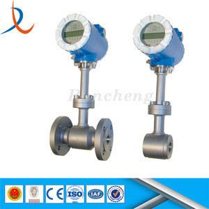 Stainless steel 304 pipeline measuring instruments / gas steam air vortex flow meter