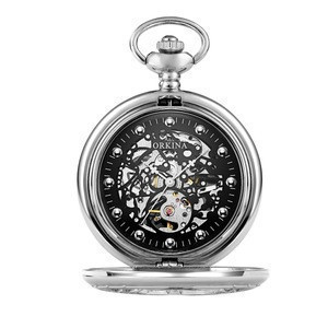 Stainless Steel Pocket Watch Glass for man waterproof   hollow 645458
