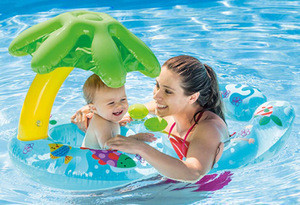Thicken grade pvc summer beach pool water playing customize baby adult inflatable swim ring