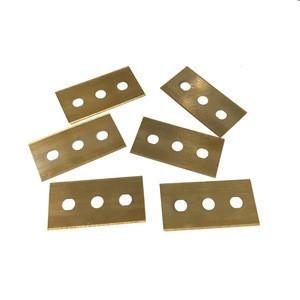 Tungsten Carbide 3 Hole Razor Blade for Cutting PE Aluminium Foil