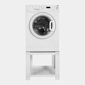 White Universal Appliance Pedestal Adjustable for Washing Machine or Dryer home appliance extra high - Safe & Space Saving