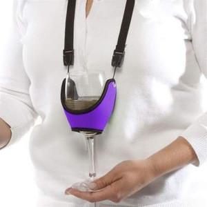 Wine glass holder printed lanyard with custom printed logo ---5 Years Lanyard Manufacturer
