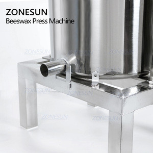 ZONESUN Stainless Steel Honey Wax Pressure Machine Manual Presser Machine Fully Enclosed Squeezer Paraffin Rolling Mill Waxing