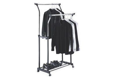 Double Adjustable Garment Rack
