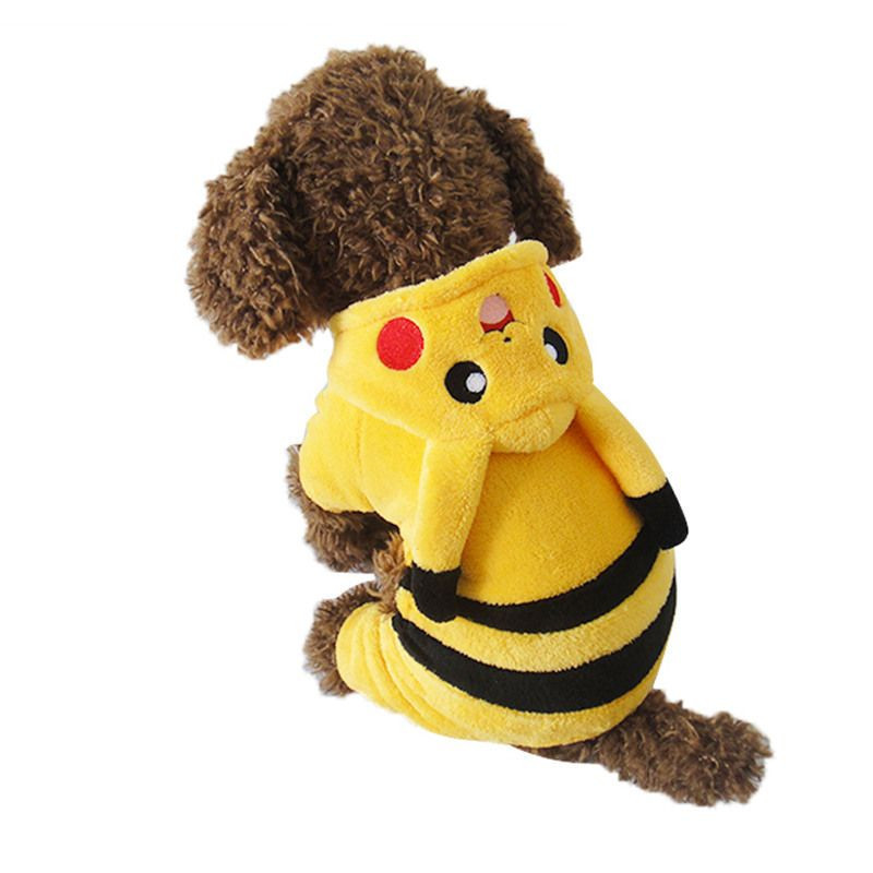 Pikachu cartoon design pet costume puppy costume