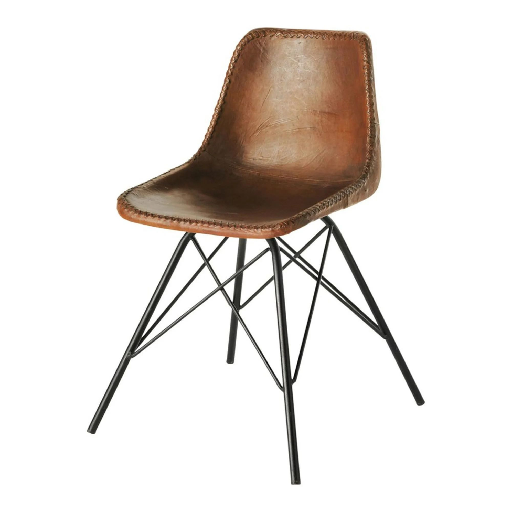 Leather and iron industrial dining chair moulded plastic restaurant living chairs High Quality Superior Wholesale Factory
