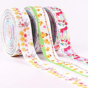 1-1/2 inch grosgrain ribbon CMYK full color digital printing gift packing ribbon 3.8cm customized ribbon