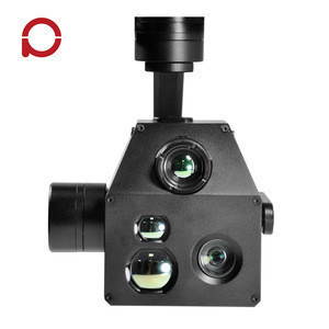 10x zoom camera for UAV gimbal 3 axis stabilized with Laser Rangefinder and Location Resolving for Surveillance / Inspection