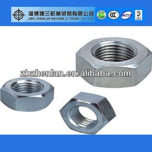 """18-8 Stainless Steel Machine Screw Hex Nut, #10-32 Thread Size, 1/8"""" Width Across Flats, 3/8"""" Thick"""
