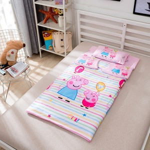 2020 New design cartoon Popular  printed OEM fixed Anti-lost quilt cover for children kids sleeping bag