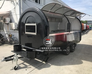 4*2M food catering trailers fast food car food truck for sale europe