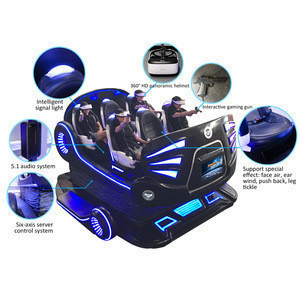 Asia Market 9D Theater Tickle Machine 6 Seats 9D Virtual Reality Cinema with Five Special Effects