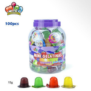Assorted  fruit jelly in round jar