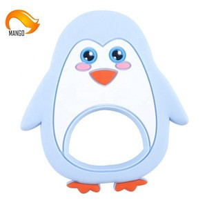 Baby Chew Toy Custom Penguin Silicone Baby Teether