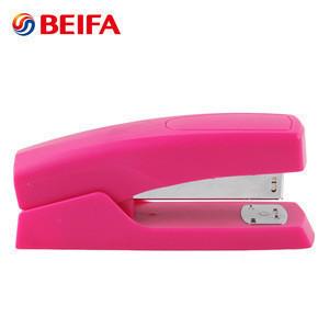 Beifa Brand SE0008 Pure Color Student Office Suppliers Plastic Desktop Paper Stapler