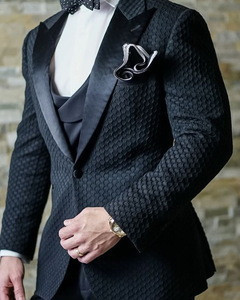 Best sale good quality white one button tuxedo made men suits