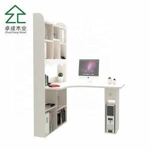 Computer desk with storage unit shelf 3 shelves Home Office living room furniture