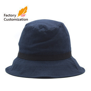 Cotton linen fabric for export adopts new design of women's fisherman's hat and bucket hat