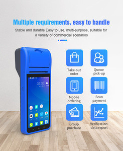 Handheld POS Terminal All in One Mobile android with 5.5 inch Touch Display and Thermal Printer