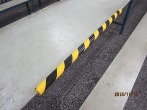 High density Polyurethane skin foam edge protector bumper strip Pu guard