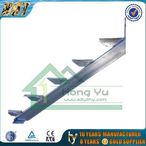 High quality In-ground&bolt-on type steel stair stringers