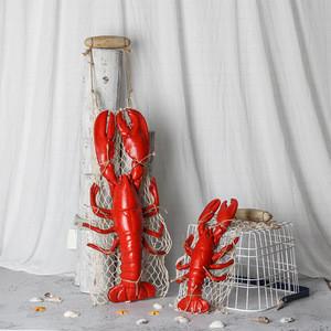 Home Restaurant Decoration Pendant Mediterranean Style Resin Crab Lobster
