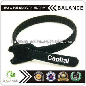 Hook and loop cable tie hook and loop tie