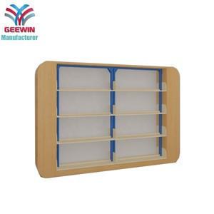 Hot sale popular used modern metal wood library bookshelf