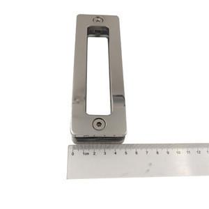 Inox Double Sided 304 Stainless Steel Glass Door Handle Square flush sliding door knob