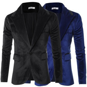 Men fashion bright side design slim one button suit with high quality