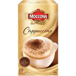 Moccona Coffee Strong Cappuccino Instant Coffee Sachets 10 pack 150g