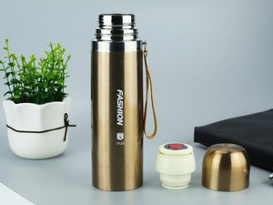 New Fashion Thermos/stainless Steel Bullet vacuum Thermos Flask With easy carry string 350ml,500ml,750ml