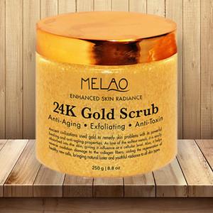 Private label pure 24k gold to moisturize anti-inflammatory anti-wrinkle exfoliating brightening firming skin care  body scrub