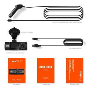 Pro Dash Cam Dual Lens Dash Camera FHD 1080P Car DVR Camera Video Recorder with Super Night Vision Parking Mode