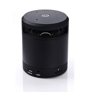 Rechargeable black mini speaker music audio player