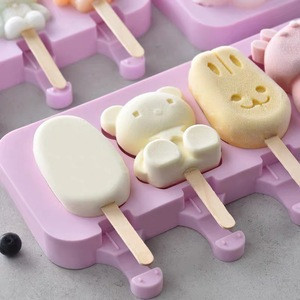 Silicone Various Shapes Ice Cream Mold  For Summer Popsicle DIY Making