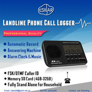 Single Line Standalone Telephone Voice and Caller ID Recorder Box with Answering Machine, FSK and DTMF, SD Card(Max 32G)