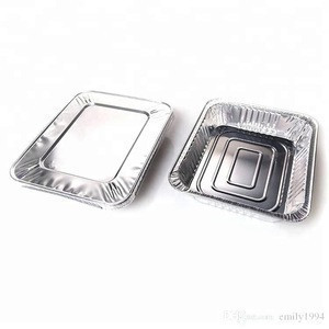smoothwall disposable aluminum foil tray container for food packaging