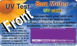 Special UV Sunny Thermometer Change Color Thermometer Solar UV card
