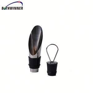 Stainless steel pourer + wine stopper