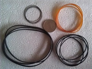 Toothed Synchronous belt for fax machines, cameras, high-end audio, copy machine belt