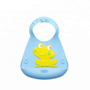 Wholesale Custom Waterproof Soft Silicone Baby Bibs With Pocket