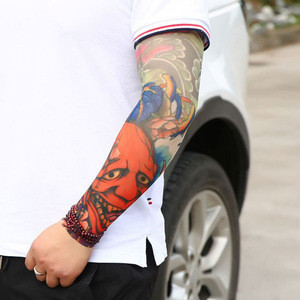 Wholesale Fashion tattoo sleeve Knitted Outdoor Imprinted Cycling Compression UV Tattoo Arm Sleeve