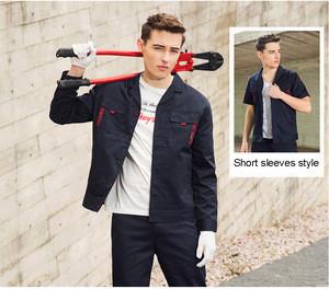 Wholesale promotional fashion custom design work uniform with functional pockets