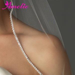 Wholesale Rhinestone Beaded Wedding Bridal Veil