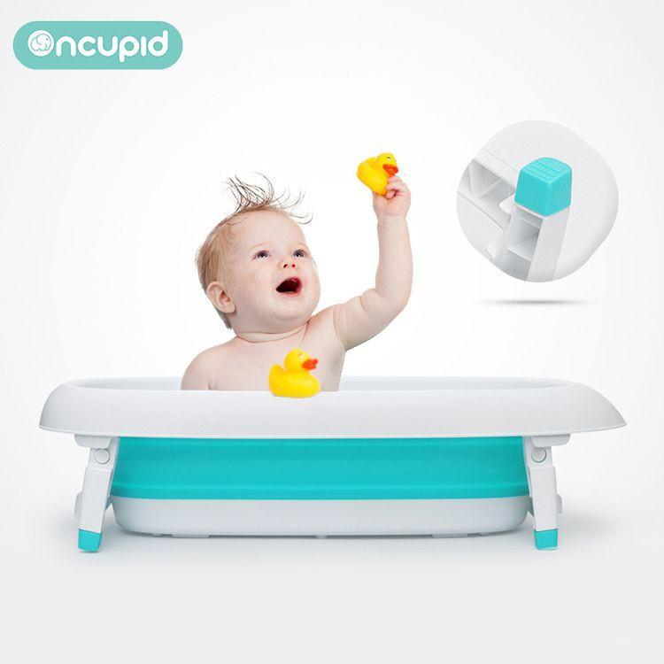 Plastic foldable bathtub portable baby kids bath tub for babies washing