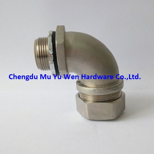 Stainless steel 304 and 316 liquid tight metraic thread conduit fittings/connectors